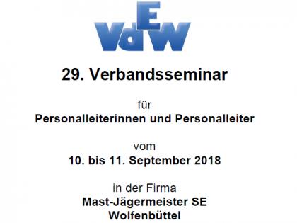 Verbandsseminar für Personalleiterinnen und Personalleiter vom 10. und 11.09.2018 in Wolfenbüttel