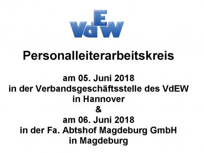 Personalleiterarbeitskreise vom 05. und 06. Juni 2018