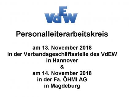 Personalleiterarbeitskreise vom 13. und 14. November 2018