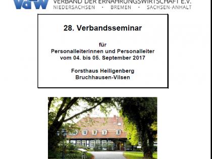 28. Verbandsseminar für Personalleiterinnen und Personalleiter vom 04.-05.09.2017