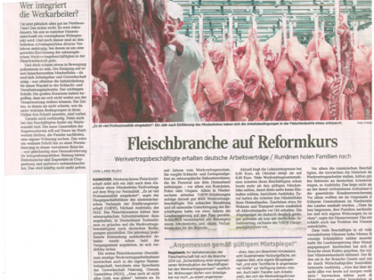 Fleischbranche auf Reformkurs