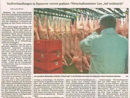 Fleischbranche bleibt ohne Mindestlohn