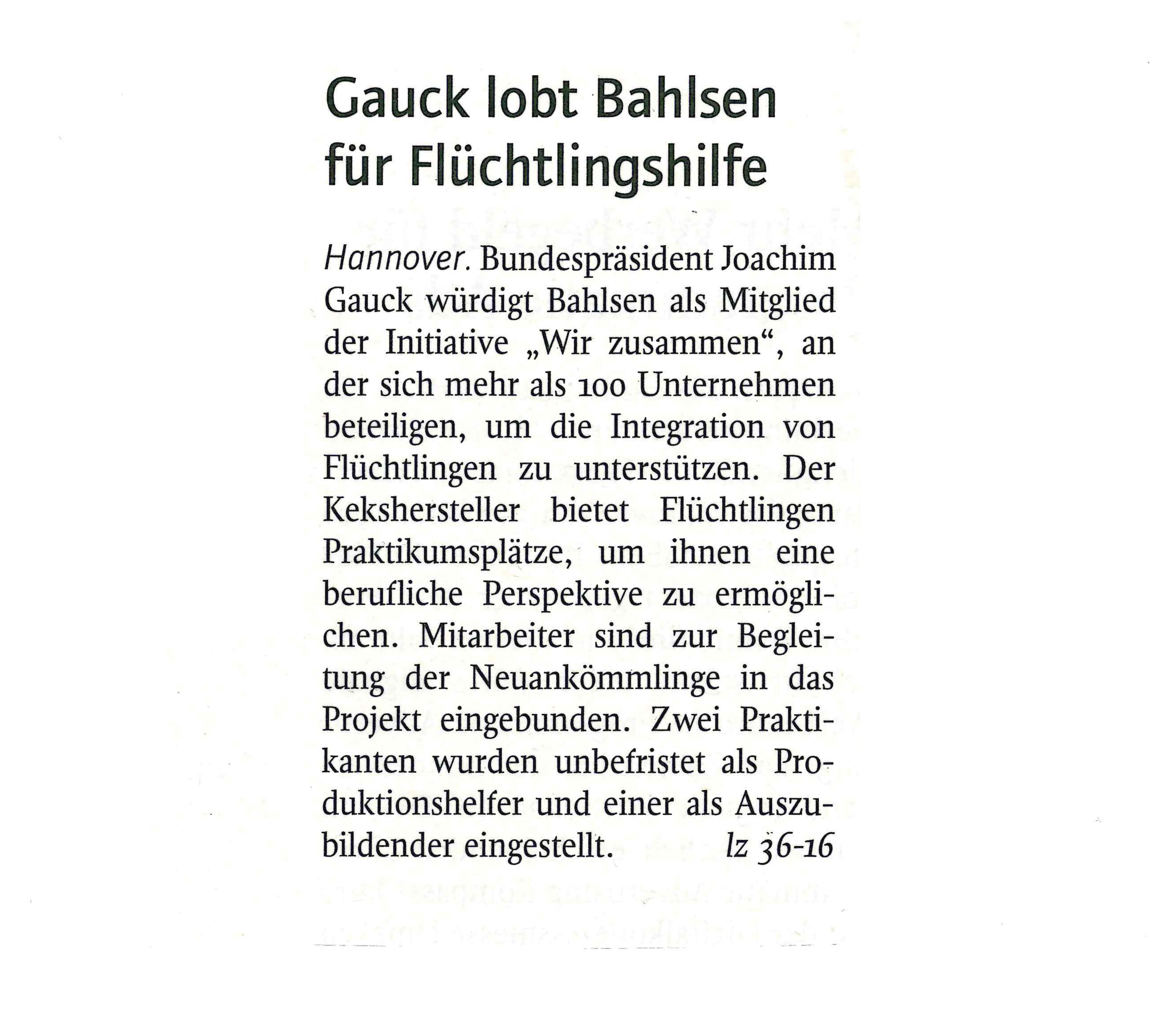 Gauck lobt Bahlsen0