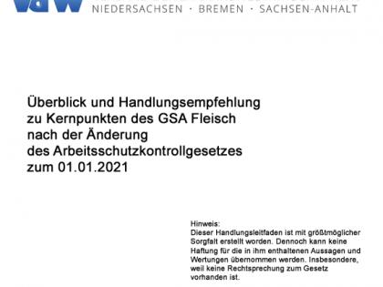 Handlungsleitfaden GSA Fleisch 2021